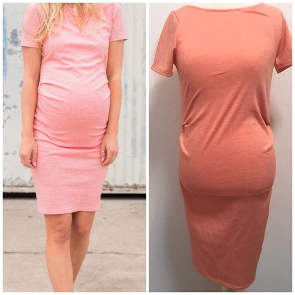 b383c647f1e 🌼Pink Blush Coral Maternity Dress-S NWT